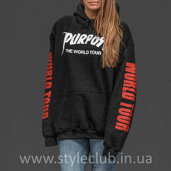 Толстовка Purpose The World Tour | худи пурпус | кенгурушка стафф