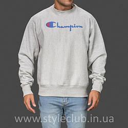 Champion свитшот серый • мужской • Бирки