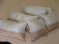 Комплект подушек полоска салатовая 6шт молочные, фото 1