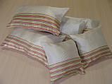 Комплект подушок смужка салатова 6шт молочні, фото 2