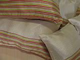 Комплект подушок смужка салатова 6шт молочні, фото 3
