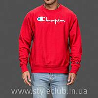 Champion свитшот красный • мужской • Бирки и Живые фотки качественная реплика