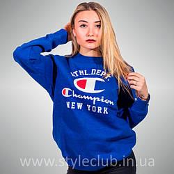 Champion свитшот синий • Женский • Бирки и Живые фотки