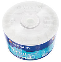 Диск (c50) CD-R Verbatim /700MB/80min/52x/50pcs Wrap-box Extra (43787)
