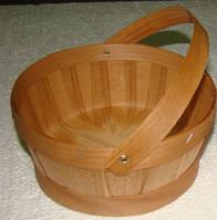 Плетённые формы из дерева (шпона)корзина160*190*90мм, фото 1