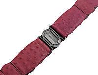 Пояс из кожи страуса женский Ekzotic leather Розовый (osb02), фото 1