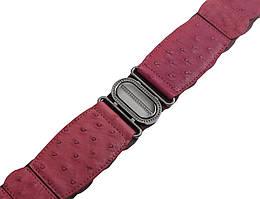 Пояс из кожи страуса женский Ekzotic leather Розовый (osb02)