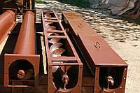 Шнековый транспортер в лотке в (желобе) 200 мм, длиной 10 м, 7.5 кВт