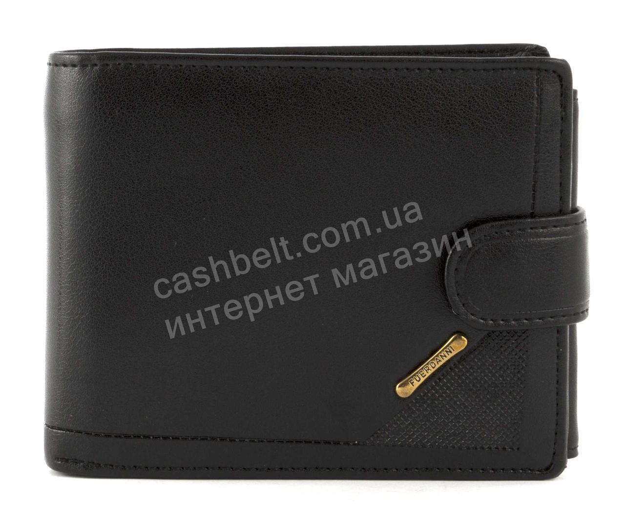 Стильний класичний чоловічий гаманець з штучної шкіри FUERDANNI art. 538-C18 чорний