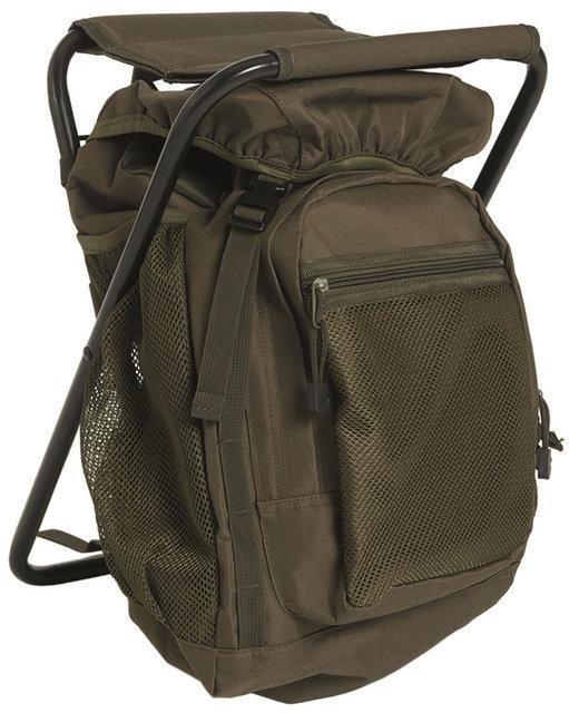 Туристический (рыболовный) стул рюкзак Sturm Mil-Tec olive 20 л. 14059001 - b719dba1a76