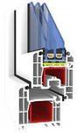 Металопластикові вікна КВЕ Оптіма, монтажна глибина 70 мм, 6 камер