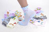 Детские хлопковые носки на девочку с узором Сезон -  Весна-Осень