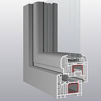 Металлопластиковые окна Schuco Corona Si 82, монтажная глубина 82 мм., 6 камер.