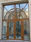 Вхідні металопластикові двері зовнішнього профільна система КВЕ, фото 6