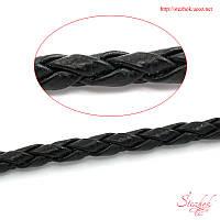 Плетеный шнур 3мм искусственная кожа для рукоделия