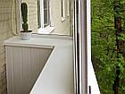Подоконник Опентек глубиной 100 мм., белый. Есть размеры: 150,200,250,300,350,400,450,500,600,700 мм., фото 3