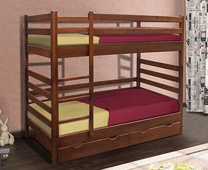 Двухъярусная кровать Засоня Микс-мебель 800х1900х1700 мм деревянная