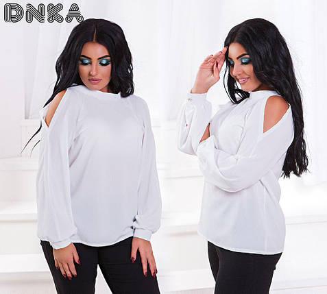Блуза с вырезами на плечах, фото 2