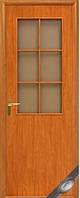 """Дверное полотно МДФ, """"Колори"""" В - G, 700х2000, на половину со стеклом, цвет ольха"""