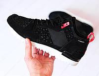 Мужские кроссовки Adidas Primaloft Black Suede,Реплика