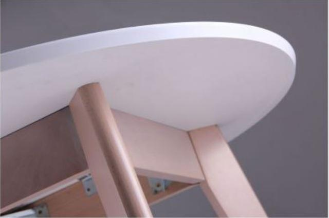 Стол Модерн CO-293.1 шпон D900 Белый/Бук беленый (фото 5)