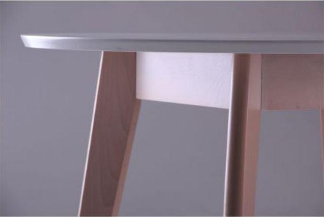 Стол Модерн CO-293.1 шпон D900 Белый/Бук беленый (фото 6)