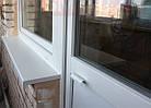 Балконная ручка курильщика ухват металлическая С-образная белая, фото 3