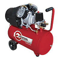 INTERTOOL Компрессор 50 л, 2.23 кВт, 220 В, 8 атм, 354 л/мин, 2 цилиндра, Арт.: PT-0004