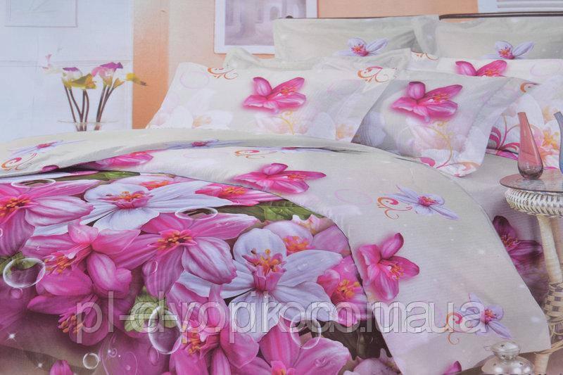 Полуторное постельное белье с красивым рисунком. Цвет ― На фото Размер : ― Пододеяльник ( 143 см х 214 см ) ―