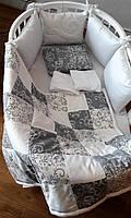 """Набор постельного белья премиум-класса дизайнерский, премиум-класса  """"Винтаж"""" 5-в-1"""