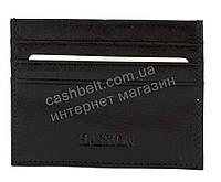 Кожаный компактный картхолдер для документом и карточек HASSION art. LF77 черный, фото 1