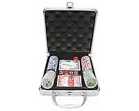 Покерный набор на 100 фишек с номиналом в металлическом кейсе №100N