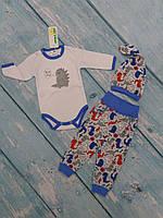 """Комплект одежды для новорожденного """"Dino"""", (3 предм., интерлок), р. 62-68"""