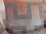 Комплект подушек терракот с серым 4шт лабиринт, фото 3