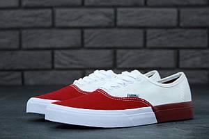 Кеды Vans Authentic White Red