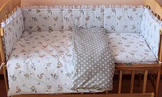 Набор постельного белья в детскую кроватку из 6 предметов  Птички