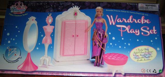 Детская мебель для кукол Gloria 1209 Гардероб Леди