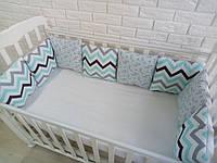 Защита в кроватку, бортики подушки «Голубая лагуна»
