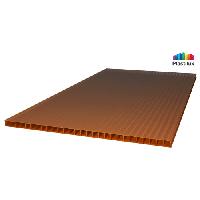Поликарбонат сотовый Sunnex 8мм, бронзовый