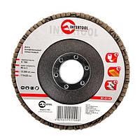 INTERTOOL Диск шлифовальный лепестковый 115x22 мм, зерно K100, BT-0110