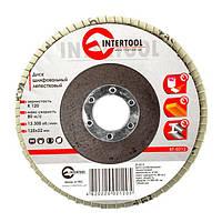 INTERTOOL Диск шлифовальный лепестковый 125x22 мм, зерно K120, BT-0212, фото 1