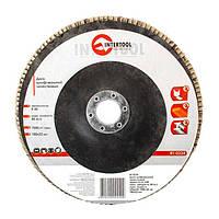 INTERTOOL Диск шлифовальный лепестковый 180x22 мм, зерно K40, BT-0224, фото 1