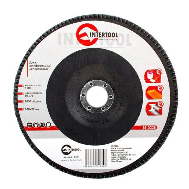 Диск шлифовальный лепестковый INTERTOOL BT-0228