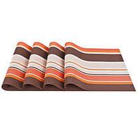 Комплект из 4-х сервировочных ковриков. Оранжевый, фото 1