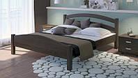 Кровать деревянная Вероника с подъемным механизмом из массива дуба двуспальная