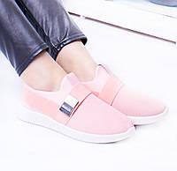Кроссовочки  материал обувной текстиль  цвет нежно розовый женские р 38 39 40 41