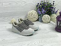 Asics женские кроссовки бежевые с коричневым (Реплика ААА+)