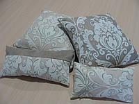 Комплект подушек серо бежевые 4шт, фото 1