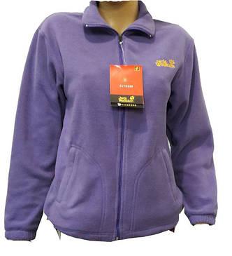 Кофта женская флисовая спортивная  Jack Wolfskin фиолетовая, фото 2