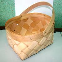 Плетённые формы из дерева (шпона) корзина 170*120*110 мм